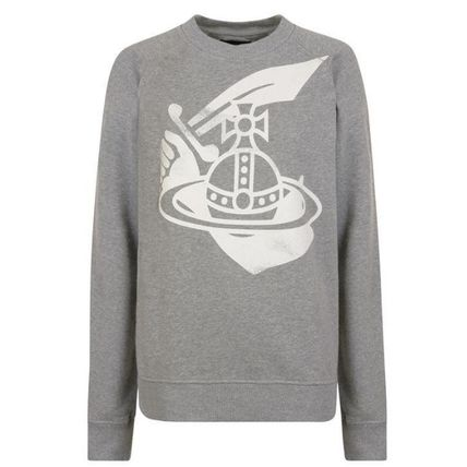 Vivienne Westwood Sweatshirts Crew Neck Pullovers Street Style Long Sleeves Cotton 2