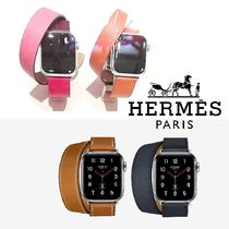 HERMES Unisex Leather Elegant Style Watches