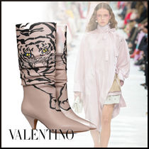 VALENTINO Casual Style Other Animal Patterns High Heel Boots