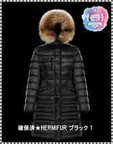 MONCLER HERMIFUR Fur Plain Down Jackets