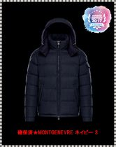 MONCLER MONTGENEVRE Short Wool Plain Down Jackets