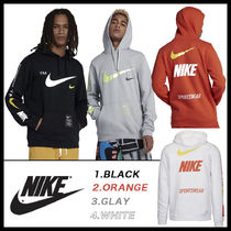 Nike Pullovers Street Style Long Sleeves Cotton Hoodies