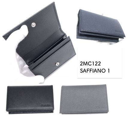PRADA Saffiano Plain Card Holders