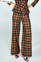 Sfera Other Check Patterns Long Party Style Wide Leg Pants