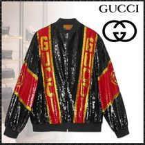 GUCCI Short Casual Style Blended Fabrics Street Style