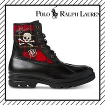 POLO RALPH LAUREN Skull Other Check Patterns Mountain Boots Street Style