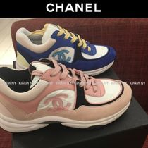 CHANEL Casual Style Blended Fabrics Low-Top Sneakers