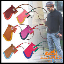 HERMES Street Style Leather Keychains & Holders