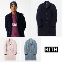 KITH NYC Wool Street Style Plain Long Chester Coats