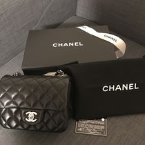 CHANEL MATELASSE Lambskin Chain Plain Shoulder Bags