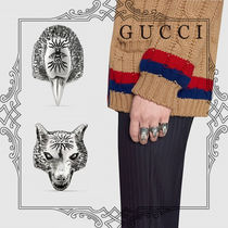 GUCCI Unisex Street Style Rings