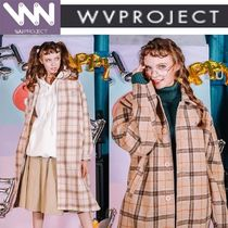 WV PROJECT Casual Style Unisex Studded Long Parkas