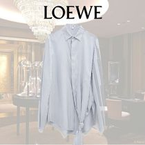 LOEWE Stripes Silk Long Sleeves Shirts & Blouses