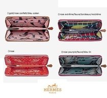 HERMES Silk In Calfskin Long Wallets