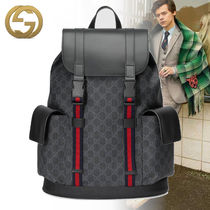 GUCCI Monogram Blended Fabrics A4 2WAY Leather Backpacks