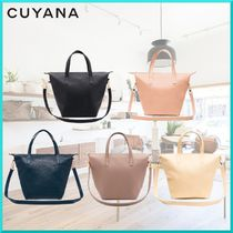 CUYANA A4 2WAY Plain Leather Elegant Style Totes