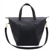 CUYANA A4 2WAY Plain Leather Elegant Style Logo Totes