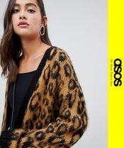 ASOS Leopard Patterns Casual Style Long Sleeves Cardigans