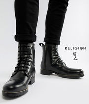 Religion Street Style Leather Boots
