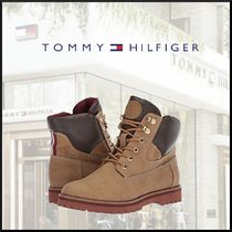 Tommy Hilfiger Mountain Boots Round Toe Casual Style Faux Fur Street Style