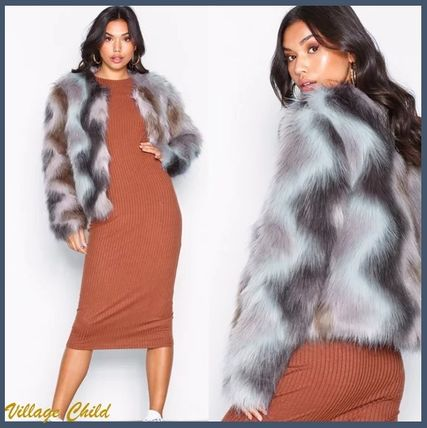 Short Faux Fur Street Style Other Animal Patterns Python
