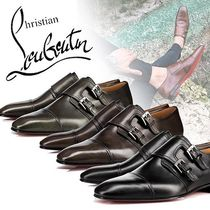 Christian Louboutin Straight Tip Monk Plain Leather Loafers & Slip-ons