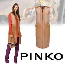 PINKO Casual Style Wool Plain Long Vests