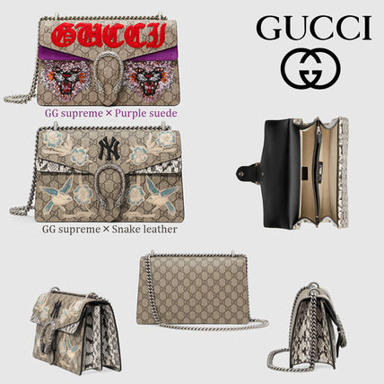 ab226598c5d GUCCI Dionysus 2018-19AW Monogram Casual Style Canvas Shoulder Bags ...
