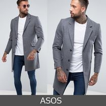 ASOS Wool Street Style Plain Long Chester Coats