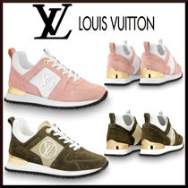 Louis Vuitton Rubber Sole Casual Style Blended Fabrics Leather