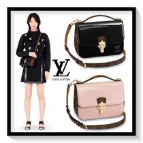 Louis Vuitton Calfskin Blended Fabrics 2WAY Plain Elegant Style Handbags