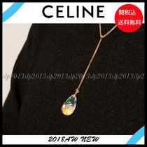 CELINE Blended Fabrics Brass Elegant Style Necklaces & Pendants