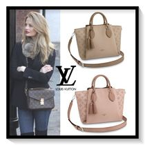 Louis Vuitton Casual Style Calfskin Tassel 2WAY Plain Totes