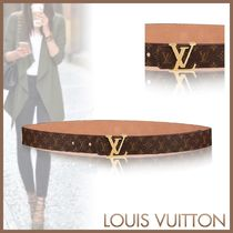 Louis Vuitton MONOGRAM Monogram Blended Fabrics Elegant Style Belts