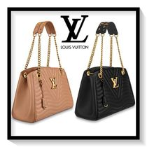 Louis Vuitton Calfskin 2WAY Chain Plain Elegant Style Totes