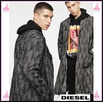 DIESEL Wool Long Chester Coats
