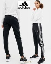 adidas Stripes Casual Style Sweat Street Style Plain Long