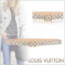 Louis Vuitton DAMIER AZUR Other Check Patterns Blended Fabrics Bi-color Elegant Style