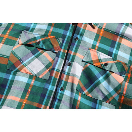 TWN Shirts Tartan Unisex Street Style Long Sleeves Cotton Oversized 11