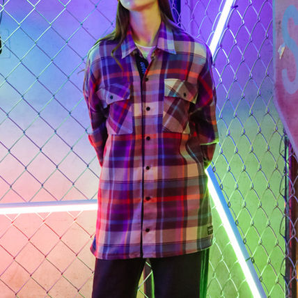 TWN Shirts Tartan Unisex Street Style Long Sleeves Cotton Oversized 19