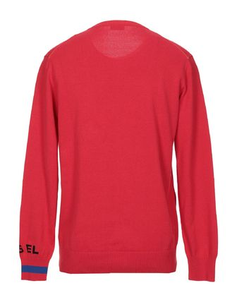 DIESEL Knits & Sweaters Crew Neck Pullovers Long Sleeves Cotton Knits & Sweaters 20