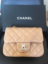 CHANEL MATELASSE Lambskin Chain Plain Elegant Style Handbags Mini Flap Bag