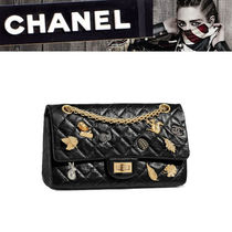 CHANEL MATELASSE Calfskin 2WAY Chain Other Animal Patterns Shoulder Bags