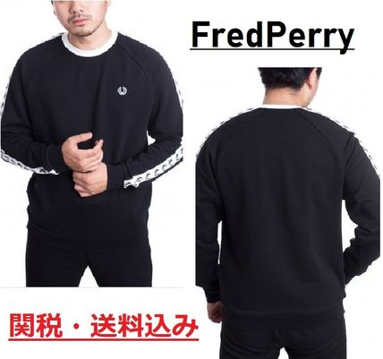 815173a637d FRED PERRY Crew Neck Street Style Long Sleeves Sweatshirts