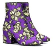 Dries Van Noten Flower Patterns Tropical Patterns Square Toe Rubber Sole