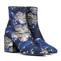 Dries Van Noten Flower Patterns Tropical Patterns Square Toe Leather