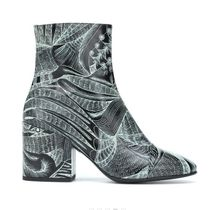 Dries Van Noten Flower Patterns Tropical Patterns Wedge Leather