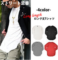 Crew Neck Stripes Street Style Long Sleeves Plain