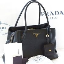PRADA 2WAY Plain Leather Handmade Home Party Ideas Elegant Style