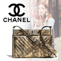CHANEL 2WAY Plain Leather Clutches